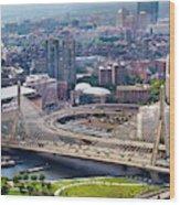 Aerial Shot Of Boston Wood Print