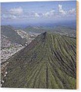 Aerial View Honolulu Hawaii Wood Print