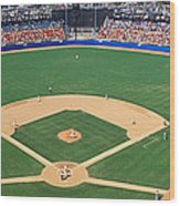 Aerial View Of A Stadium, Dodger Wood Print