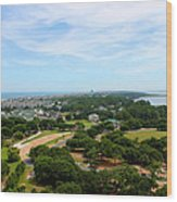 Aerial View Of Corolla North Carolina Outer Banks Obx Wood Print by Design Turnpike