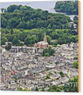Aerial View Of Keswick In The Lake District Cumbria Wood Print