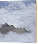 Aerial View Of Mt Kinabalu Borneo Wood Print
