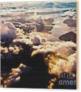 Aerial View Of Pacific Coast Of Bc Canada Wood Print