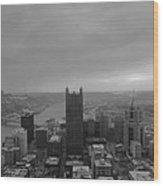 Aerial View Of Pittsburgh Wood Print