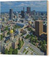 Aerial View Of Skyline And Georgia Wood Print