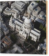 Aerial View Of St Pauls Cathedral Wood Print