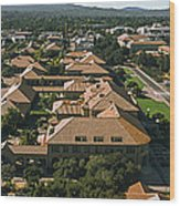 Aerial View Of Stanford University Wood Print