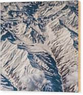 Aerial View Of The Mountains Wood Print