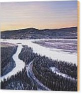 Aerial View Of The Tanana River Valley Wood Print