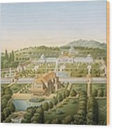 Aerial View Of The Villa Of King Wood Print