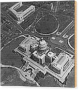 Aerial View Of U.s. Capitol Wood Print
