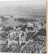 Aerial View Of Windsor Castle. Wood Print