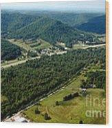 Aerial View Us Route 19  Wood Print