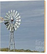 Aermotor Windmill Wood Print
