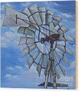 Aermotor Windmill Wood Print