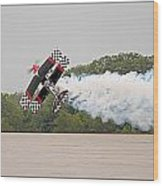 Aerobatic Plane Wood Print