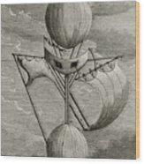 Aeronautical Vessel Wood Print