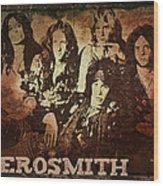 Aerosmith - Back In The Saddle Wood Print