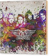 Aerosmith In Color Wood Print by Aged Pixel