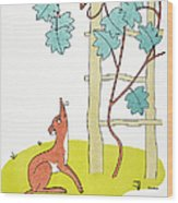 Aesop: Fox And Grapes Wood Print