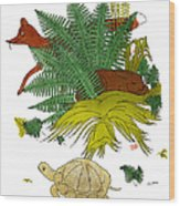 Aesop: Tortoise & The Hare Wood Print