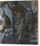 Afghan Air Force Members Wood Print