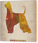 Afghan Hound Poster Wood Print by Naxart Studio