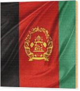 Afghanistan Flag Wood Print by Les Cunliffe