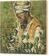 Afghani Harvest - Watercolor Wood Print