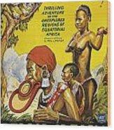 Africa Speaks Wood Print
