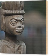 African Aging Wooden Sculpture Wood Print