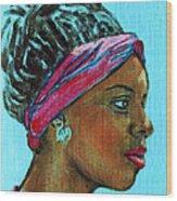 African American 5 Wood Print