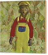 African American Kid Art Wood Print