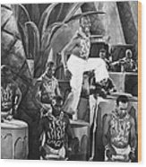 African American Musical Scene Wood Print