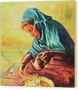 African Chai Tea Lady. Wood Print