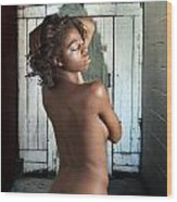 Chynna African American Nude Girl In Sexy Sensual Photograph And In Color 4788.02 Wood Print