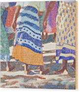 African Colors Wood Print by Tracy L Teeter