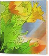 African Daisy I - Digital Paint Wood Print