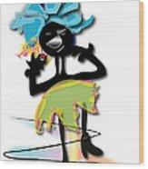 African Dancer 3 Wood Print