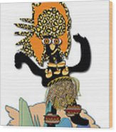 African Dancer 6 Wood Print