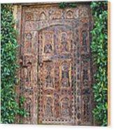 African Door Parker Palm Springs Wood Print