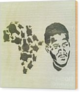 African Icon Wood Print
