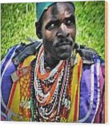 African Look Wood Print