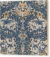 African Marigold Design Wood Print by William Morris