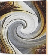 African Moon Twirls Wood Print