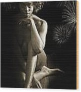 Chynna African American Nude Girl In Sexy Sensual Photograph And In Black And White Sepia 4791.01 Wood Print