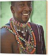 African Smile Wood Print