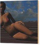 African Sunrise Wood Print