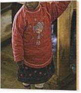 African Toddler Wood Print