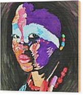 African Woman Wood Print by Glenn Calloway